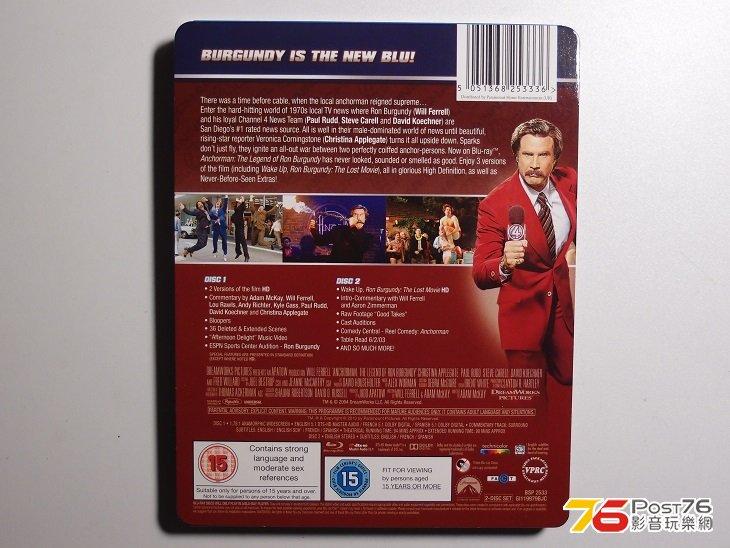 英版Anchorman the Legend of Ron Burgundy 搶閘男主播BD (實物圖) - 4K
