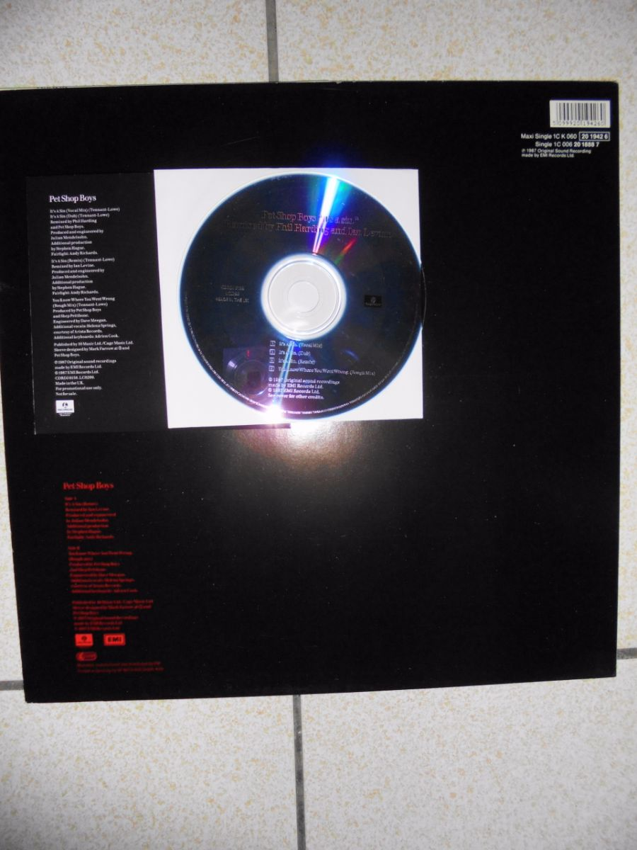 "German 12"" Single與UK Promo CD single的背面內容不同,唯一相同的就是You Know Where You Went Wrong的Ro ..."
