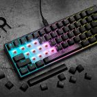 CORSAIR 四連發! K65 RGB MINI 60%、 PBT DOUBLE-SHOT PRO 、 Elgato Light Strip 、 Wave Panels【電腦週邊資訊】
